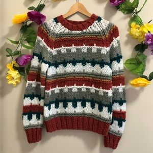 Vintage Hand Made Chunky Knit Sweater
